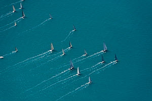 Aerial view of Hamilton Island sailing race, off the coast of Queensland, Australia, August 2011 - Jurgen Freund,Jurgen Freund