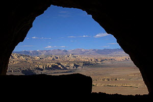 Looking out from inside cave in Tsaparang (sometimes known as the mythical Shangri-la) was the capital of the ancient kingdom of Guge in the Garuda Valley, Ngari Prefecture, Western Tibet. Tsaparang i...  -  Ben Lascelles
