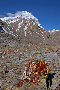 Mount Kailash is a peak in the Kailas Range (Gangdise Mountains), which are part of the Transhimalaya in Tibet. It is considered a sacred place in four religions: Bon, Buddhism, Hinduism and Jainism....  -  Ben Lascelles
