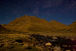 Nightime long exposure of the Zhong Chu river below Zutruphuk Monastery, Mount Kailash. Tibet. June 2010 - Ben Lascelles