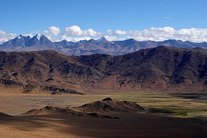 View of the Tibetan Himalayas near the Eastern Nepal / Tibet border, June 2010.  -  Ben Lascelles