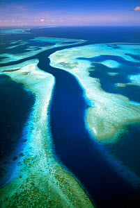 Aerial of Kossol Passage, Kossol Reef, Palau Islands, North Pacific Ocean.  -  Michael Pitts,Michael Pitts