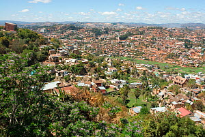 View over town of Antananarivo, Madagascar. Photograph taken on location for BBC 'Wild Madagascar' Series, September 2009.  -  Barrie Britton