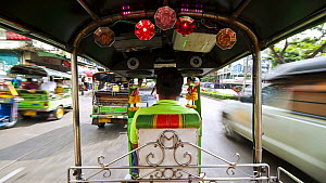 Timelapse taken from the back of a rickshaw travelling through Bangkok, Thailand, 2011.  -  Gavin Hellier