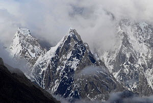 View of mountains from Concordia, the confluence between the Baltoro Glacier and the Godwin-Austen Glacier, Central Karakoram National Park, Pakistan, July 2007. - Enrique Lopez-Tapia