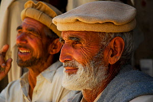 Portrait of two Balti men, Skardu, Pakistan, June 2007. - Enrique Lopez-Tapia