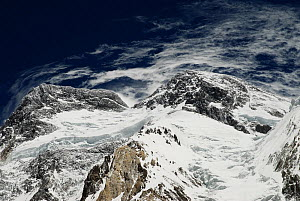 View looking up to the summit of Broad Peak (8,047m), Central Karakoram National Park, Pakistan, June 2007. - Enrique Lopez-Tapia