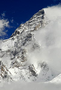View looking up to the summit of K2 (8,611m), Central Karakoram National Park, Pakistan, June 2007  -  Enrique Lopez-Tapia,Enrique Lopez-Tapia
