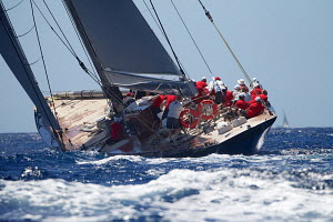 J-Class yacht 'Rainbow' on the first day of the Superyacht Cup, Palma, Majorca, Spain, June 2013. All non-editorial uses must be cleared individually.  -  Jesus Renedo