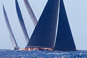 J-Class yacht 'Rainbow' racing on the first day of the Superyacht Cup, Palma, Majorca, Spain, June 2013. All non-editorial uses must be cleared individually.  -  Jesus Renedo