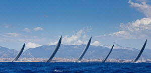 J-class yachts 'Ranger', 'Rainbow', 'Lionheart', 'Velsheda' and 'Hanuman' racing on the first day of the Superyacht Cup, Palma, Majorca, Spain, June 2013. All non-editorial uses must be cleared indivi...  -  Jesus Renedo
