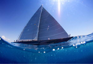 Split-level view of J-class yacht 'Hanuman' on the third day of the Superyacht Cup, Palma, Majorca, Spain, June 2013. All non-editorial uses must be cleared individually.  -  Jesus Renedo