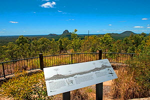 Information sign, Glasshouse Mountains National Park - a park spread out over a number of small areas, each with its own volcanic remnant cone or 'mountain', Queensland, Australia, Novmeber 2009  -  Steven David Miller