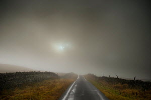 A foggy scene on the road to the Tan Hill Inn, Richmond, Yorkshire, June 2012  -  Graham  Eaton