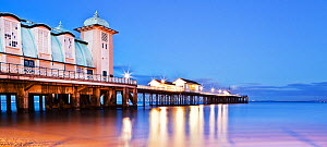 Penarth Pier at dusk, Vale of Glamorgan, Cardiff, Wales, February 2012. - Merryn  Thomas