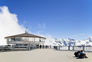 Viewing platform on the summit of the Schilthorn (2,970m), Bernese Oberland, Switzerland, June 2012. - Merryn  Thomas
