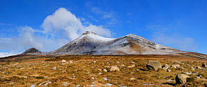 Slieve binnian and Wee binnian, Mourne Mountains County Down, Northern Ireland, March 2013  -  Robert Thompson