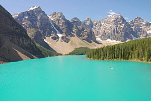 Glacially-fed Moraine Lake, Alberta, Canada - Visuals Unlimited