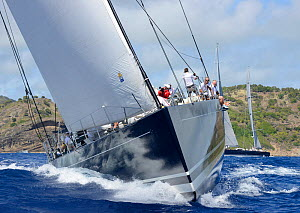 'P2' competing in the Antigua Superyacht Challenge 2013. All non-editorial uses must be cleared individually.  -  Rick  Tomlinson