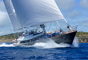 Superyacht competing in Antigua Superyacht Challenge 2013. All non-editorial uses must be cleared individually.  -  Rick  Tomlinson