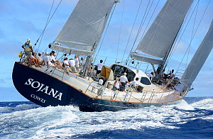 'Sojana' competing in Antigua Superyacht Challenge 2013. All non-editorial uses must be cleared individually.  -  Rick  Tomlinson
