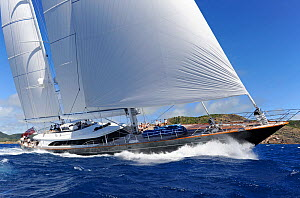 Antigua Superyacht Challenge 2013, 'Panthalassa'. All non-editorial uses must be cleared individually.  -  Rick  Tomlinson