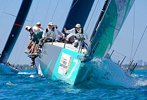 Day 1 of the Gaastra TP52 World Championships, Miami. March 5th 2013. TP52 'Vesper', 2 races sailed. All non-editorial uses must be cleared individually.  -  Rick  Tomlinson