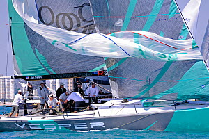 Day 4 of the Gaastra TP52 World Championships, TP52 'Vesper', 3 races sailed. Miami, March 8th 2013. All non-editorial uses must be cleared individually.  -  Rick  Tomlinson