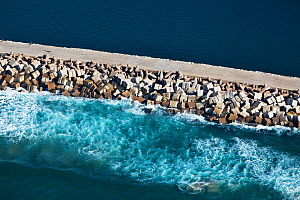 Aerial photograph of Durban Harbour breakwater, KwaZulu-Natal Province, South Africa, May 2010  -  Richard Du Toit