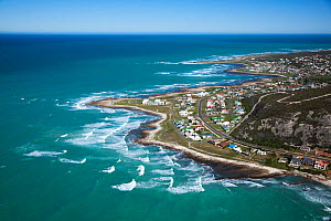 Aerial photograph of Western Cape Province, Cape Agulhas, Indian Ocean, South Africa, August 2010 - Richard Du Toit