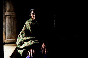 Thuli Maya Fuyal, widow, in her small room in Kathmandu, in Namaskar Association �House of Widows�. Culturally in Nepal women lose many rights when they become widows and may be treated badly by their...  -  Enrique López-Tapia de Inés