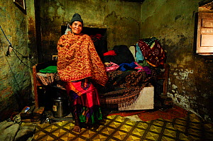 Kanchi Tamang, widow, in her small room in Kathmandu, in Namaskar Association �House of Widows�. Culturally in Nepal women lose many rights when they become widows and may be treated badly by their fa...  -  Enrique López-Tapia