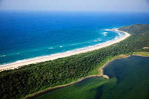 Aerial Photograph of Lake Sibaya / Sibhayi, KwaZulu-Natal Province, South Africa, Indian Ocean, June 2010  -  Richard Du Toit