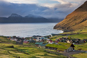 Picturesque village of Gjogv on the island of Eysturoy, Faroe Islands. June 2012. - Adam  Burton