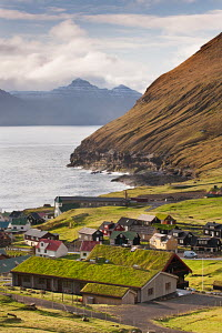Picturesque village of Gjogv on Eysturoy in the Faroe Islands. June 2012. - Adam  Burton