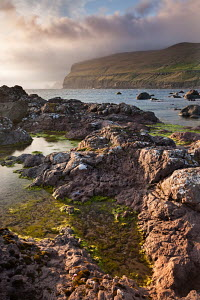 Rockpools on the foreshore on the west coast of Sandoy, Faroe Islands, Europe. June 2012.  -  Adam  Burton