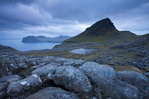 Skaelingur mountain on the island of Streymoy, Faroe Islands, Europe. June 2012.  -  Adam  Burton
