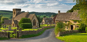 Picturesque Snowshill church and village, Cotswolds, Gloucestershire, England. September 2012.  -  Adam  Burton