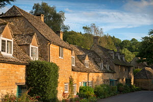 Cottages in the Cotswolds village of Snowshill, Gloucestershire, England. September 2012.  -  Adam  Burton