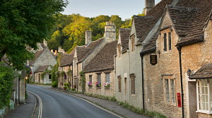 Pretty cottages in the Cotswolds village of Castle Combe, Wiltshire, England. September 2012.  -  Adam  Burton