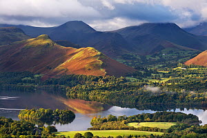 Derwent Water and Catbells mountain, Lake District National Park, Cumbria, England. October 2012. - Adam  Burton