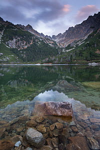Popradske Pleso lake on a calm day, in the High Tatras, Slovakia, Europe. October 2012. - Adam Burton,Adam  Burton