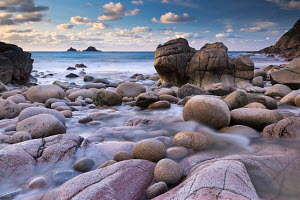 Rocky cove at Porth Nanven near Land's End, Cornwall, England. December 2012.  -  Adam  Burton