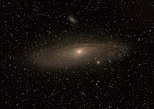 The Great Andromeda Galaxy (M32) and its two brightest satellite galaxies M110 to the right and close to Andromeda, and M32 (Messier 32) to the upper left. June 11, 2013 at 02.27. Taken with digital i...  -  Charlie  Summers