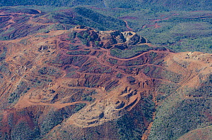 Aerial of mines, Noumea, South Province, New Caledonia, August 2012.  -  Roland  Seitre