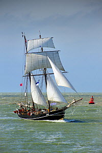 The Dutch hermaphrodite brig / schooner 'Jantje' during the maritime festival Oostende voor Anker / Ostend at Anchor 2013, Belgium, 25th May 2013. - Philippe Clement
