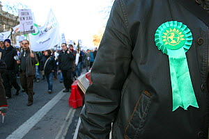 Green Party supporter during a Rally, London, UK  -  Tom  Gilks