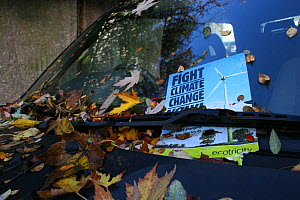 Fight Climate Change fly poster under windscreen wiper - Tom  Gilks