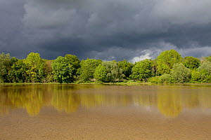 River Seine in flood, Troyes, France, May, 2013.  -  Pascal  Tordeux