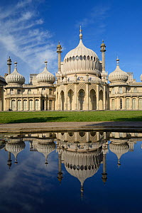 The Royal Pavilion at Brighton reflected in water, Brighton, Sussex, England, UK. October 2012. - Peter  Lewis